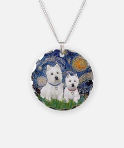 Starry-2Westies (custom) Necklace