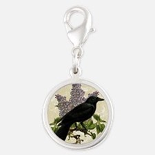 lilac-and-crow_9x12 Silver Round Charm