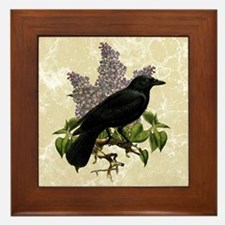 lilac-and-crow_9x12 Framed Tile