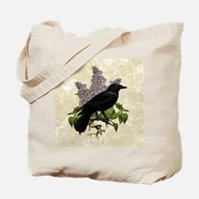 lilac-and-crow_9x12 Tote Bag