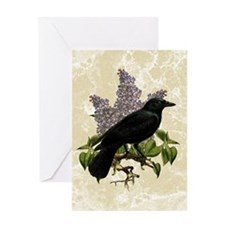lilac-and-crow_12x18 Greeting Card