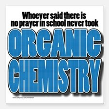 """Orcanic Chemistry Square Car Magnet 3"""" x 3"""""""