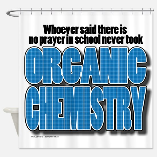 Orcanic Chemistry Shower Curtain
