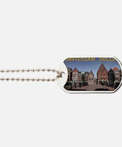 Amsterdam - Bridge and Buildings Dog Tags