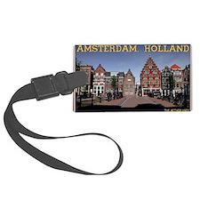 Amsterdam - Bridge and Buildings Luggage Tag