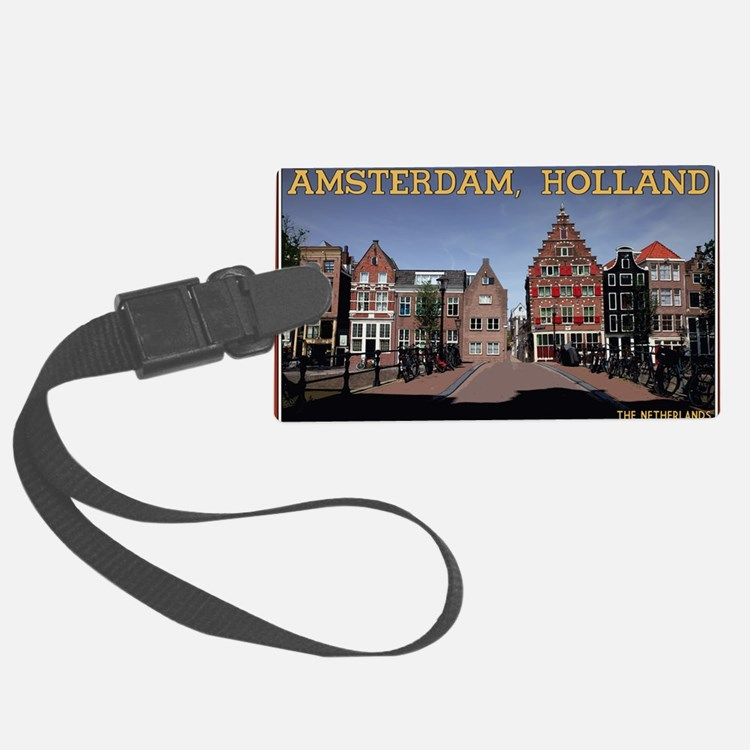 Amsterdam - Bridge and Buildings Luggage Tag