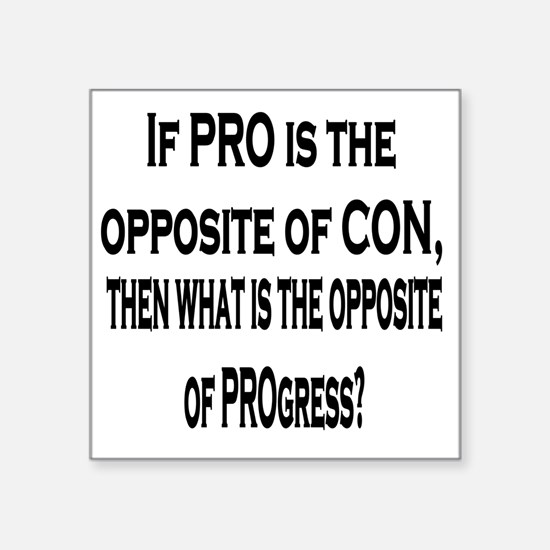 "ProCon8x1010x10Shirt Square Sticker 3"" x 3"""