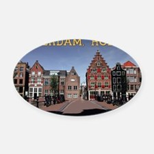 Amsterdam - Bridge and Buildings Oval Car Magnet