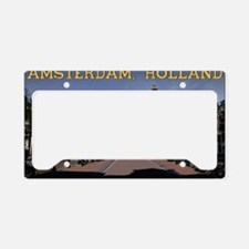 Amsterdam - Bridge and Buildi License Plate Holder