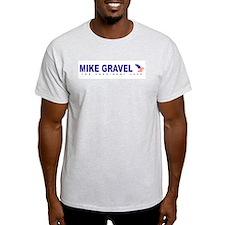 Mike Gravel for president Ash Grey T-Shirt