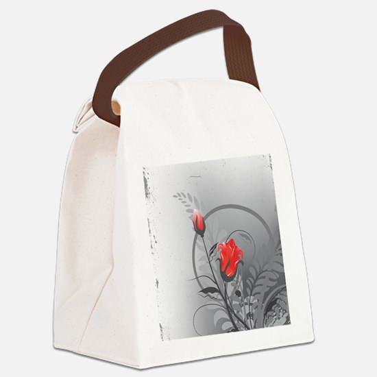Rose Canvas Lunch Bag