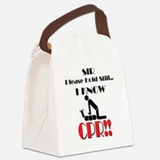 i know cpr Canvas Lunch Bag