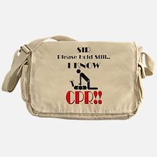 i know cpr Messenger Bag