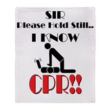 i know cpr Throw Blanket