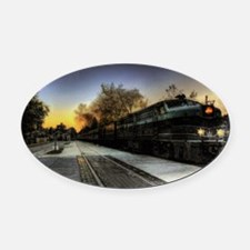 all aboard Oval Car Magnet