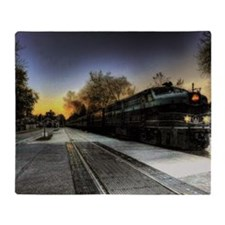 all aboard Throw Blanket