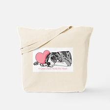 MerleB UC Holds Heart Tote Bag