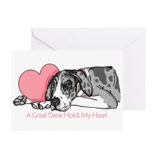 MerleB UC Holds Heart Greeting Cards (Pk of 10