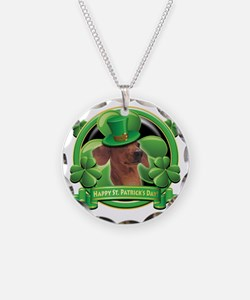 Happy St Patricks Day Dachsh Necklace