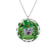 Happy St Patricks Day Westie Necklace
