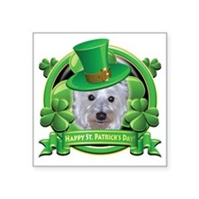"Happy St Patricks Day Westi Square Sticker 3"" x 3"""