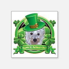 """Happy St Patricks Day Westi Square Sticker 3"""" x 3"""""""