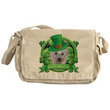 Happy St Patricks Day Westie Messenger Bag