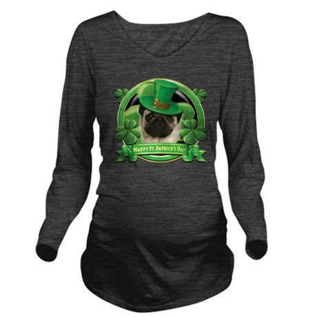 Happy St. Patrick's Long Sleeve Maternity T-Shirt
