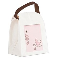 Trendy Blossom Pink Bird iPhone s Canvas Lunch Bag