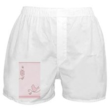 Blossom trendy pink bird Boxer Shorts