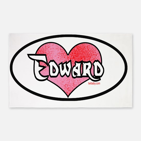 edward cullen oval peel sticker 2 c 3'x5' Area Rug
