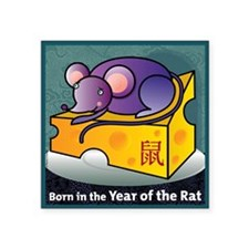 "RatTshirt Square Sticker 3"" x 3"""
