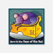 "RatTshirt Square Sticker 3"" x 3"""