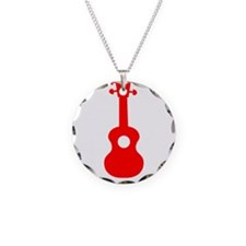 My Dog Has Fleas Ukulele Red Necklace
