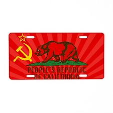 PROC Flag Aluminum License Plate