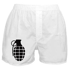 grenade_blacksticker Boxer Shorts
