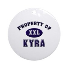Property of kyra Ornament (Round)