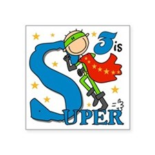 "BIRTHDAYSUPER3 Square Sticker 3"" x 3"""