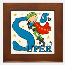 BIRTHDAYSUPER5 Framed Tile