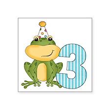 """froggiethree Square Sticker 3"""" x 3"""""""