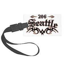 Seattle 206 Luggage Tag