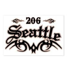 Seattle 206 Postcards (Package of 8)