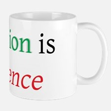 inflation is violence w Mug