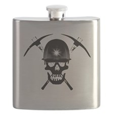 MIB Crossbones Black Flask