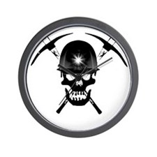 MIB Crossbones Black Wall Clock