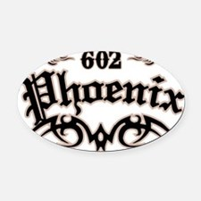 Phoenix 602 Oval Car Magnet
