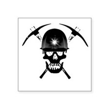 "MIB Crossbones Black Square Sticker 3"" x 3"""