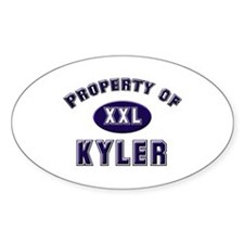 Property of kyler Oval Decal
