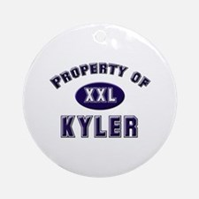 Property of kyler Ornament (Round)