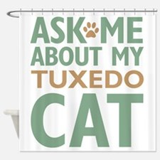 cattuxedo-01 Shower Curtain